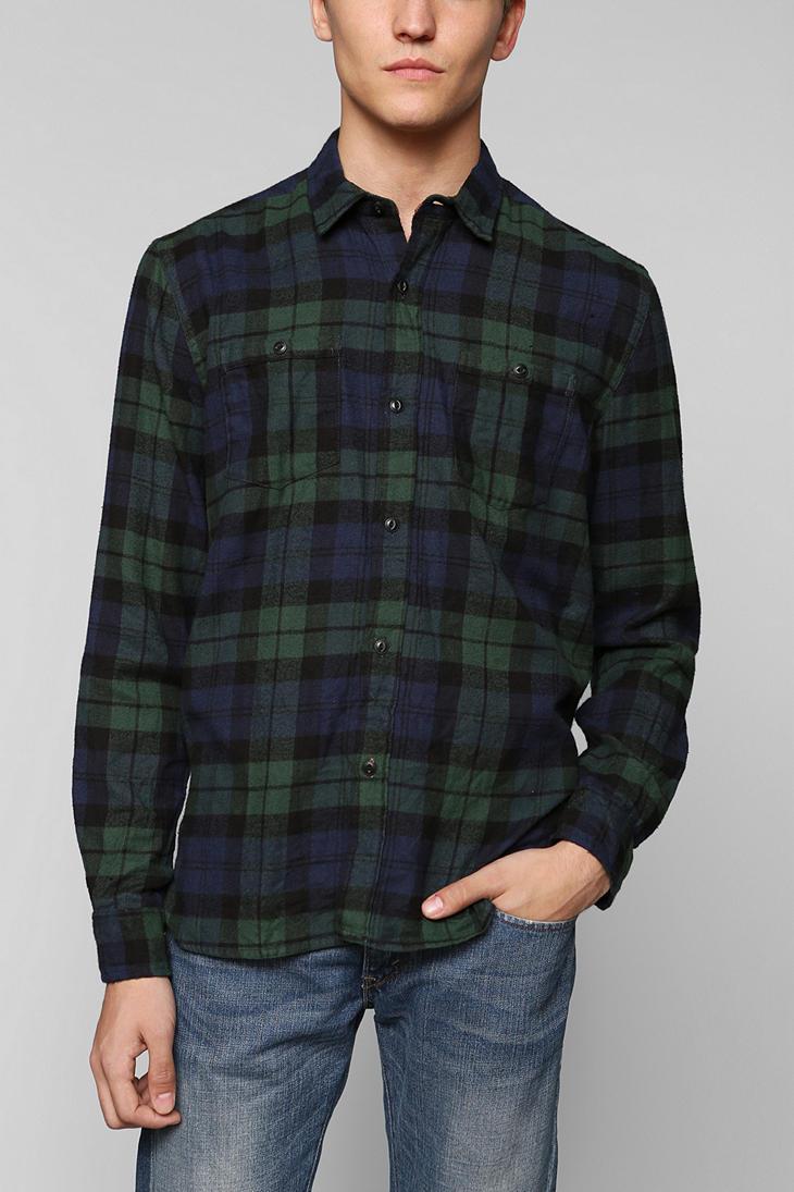 Urban outfitters Stapleford Tartan Buttondown Flannel Shirt in ...