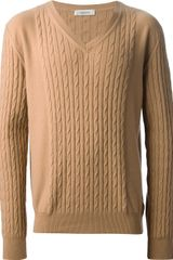 Valentino Cable Knit Jumper - Lyst