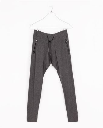 Zara Trousers with Faux Leather Piping - Lyst