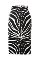 Carven Zebra print Satin Pencil Skirt - Lyst