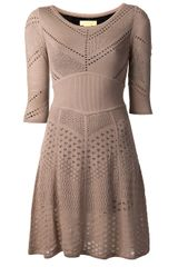 Catherine Malandrino Open Knit Dress - Lyst