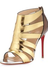 Christian Louboutin Beauty K Metallic Cage Red Sole Sandal - Lyst