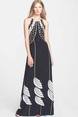 Diane Von Furstenberg Monica Silk Halter Dress - Lyst