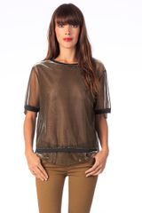 Diesel Short Sleeve Top  - Lyst