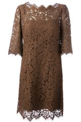 Dolce & Gabbana Lace Shift Dress - Lyst