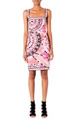 Emilio Pucci Squareneck Sleeveless Dress - Lyst