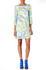 Emilio Pucci 34sleeve Printed Dress - Lyst