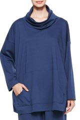Eskandar Monks Top In Denim - Lyst