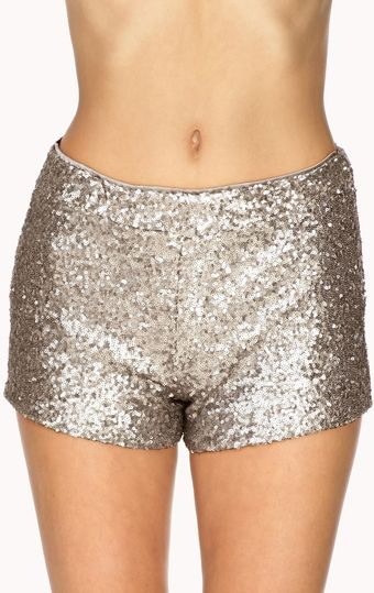 Forever 21 Subtle Sequined Shorts - Lyst