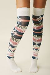 Free People Geo Over The Knee Sock - Lyst