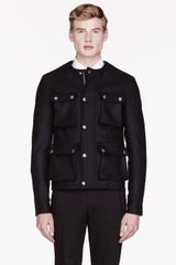Givenchy Black Wool Cargo Jacket - Lyst