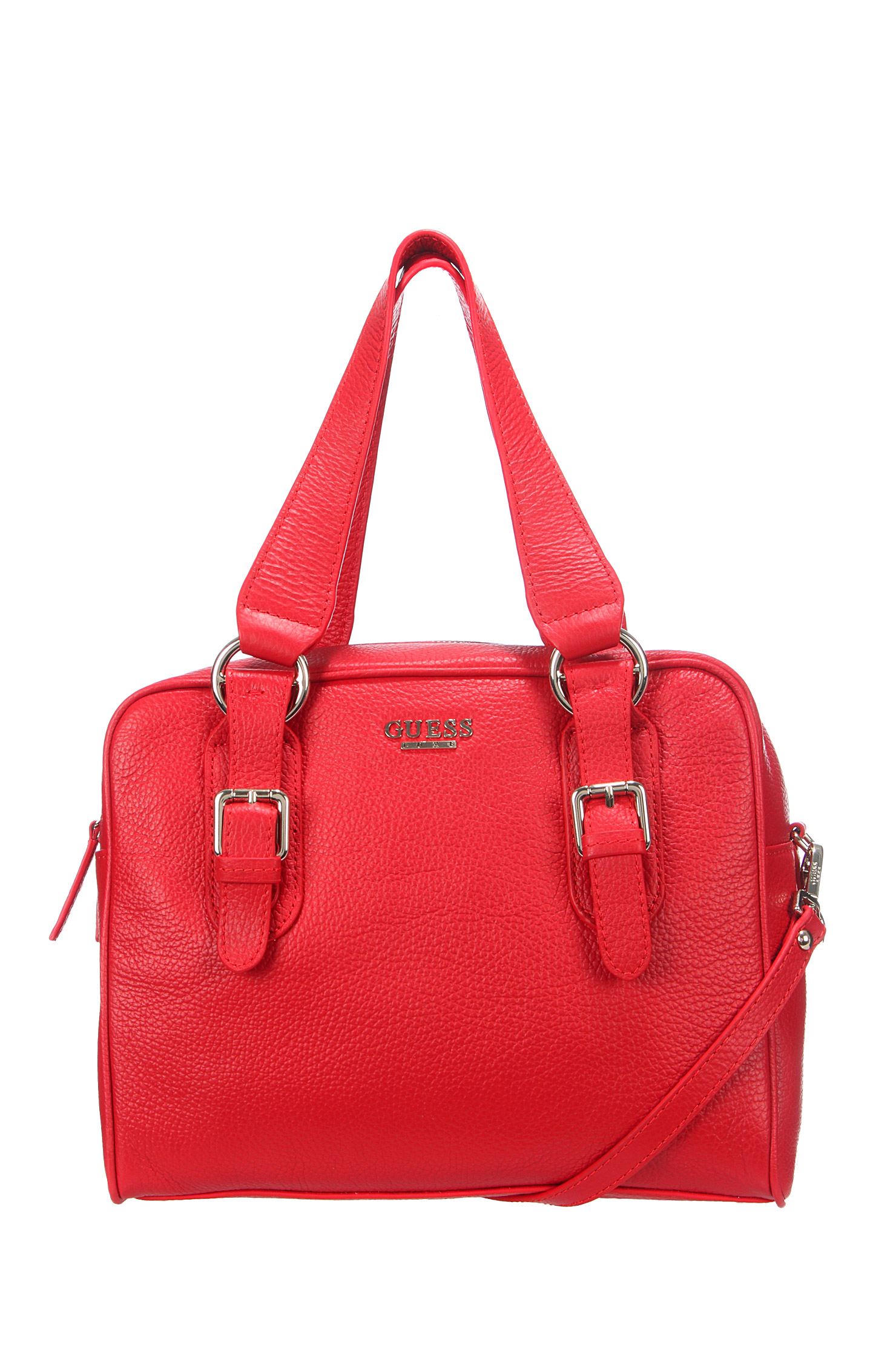 womens guess limelight handbag red by women leather