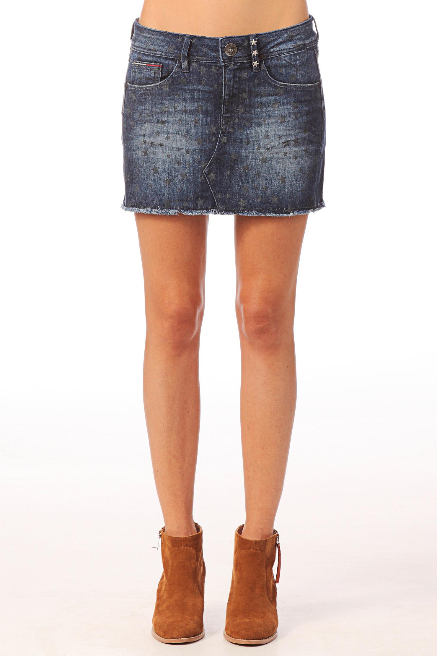 Blue Jean Mini Skirts - Dress Ala