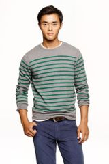 J.Crew Cotton cashmere Sweater in Autumn Pine Stripe - Lyst