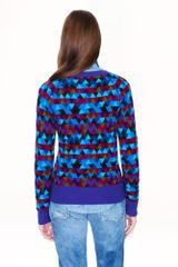 J.crew Collection Cashmere Stained Glass Sweater in Purple (burgundy violet blue) - Lyst