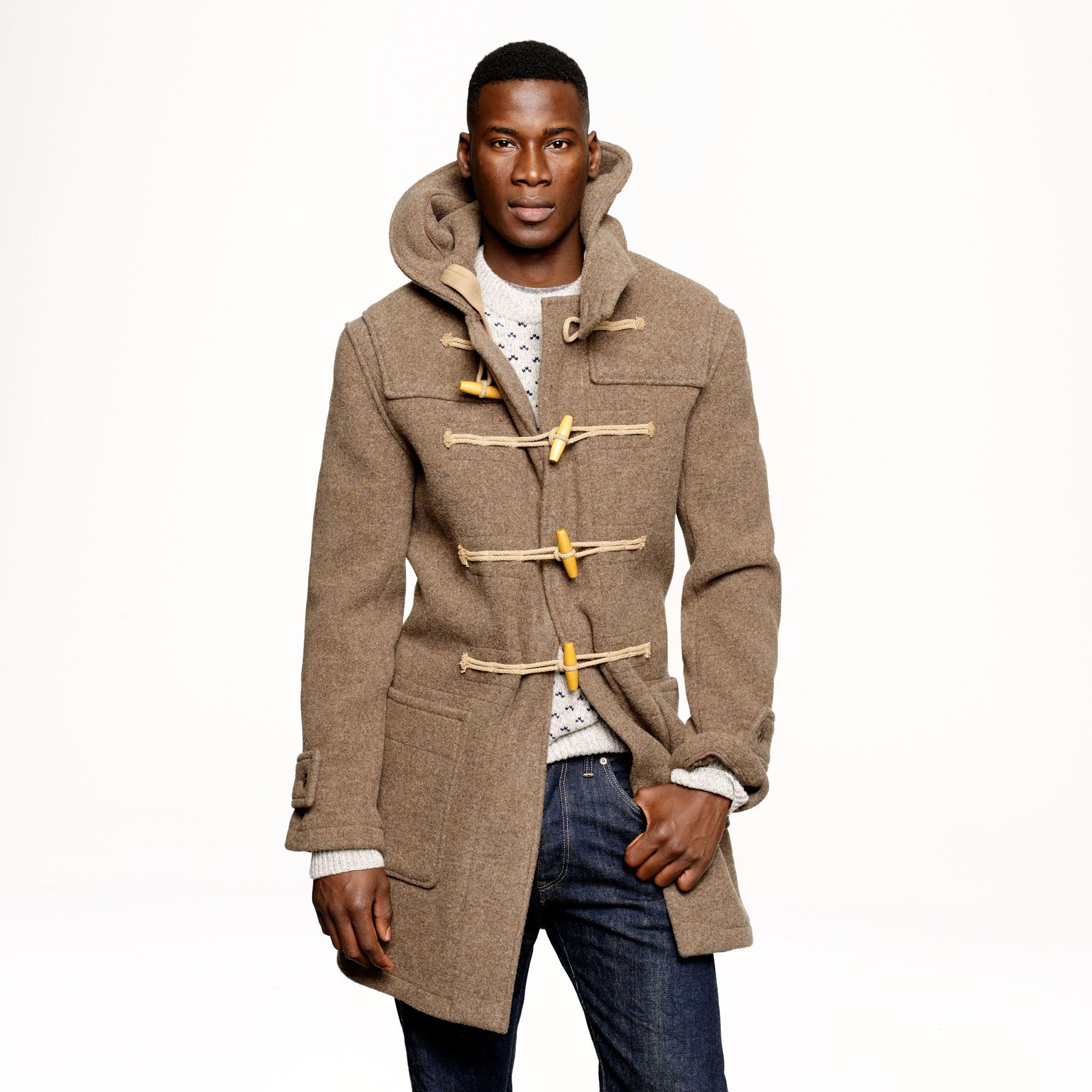 J.crew Harbour Duffel Coat in English Wool in Brown for Men | Lyst