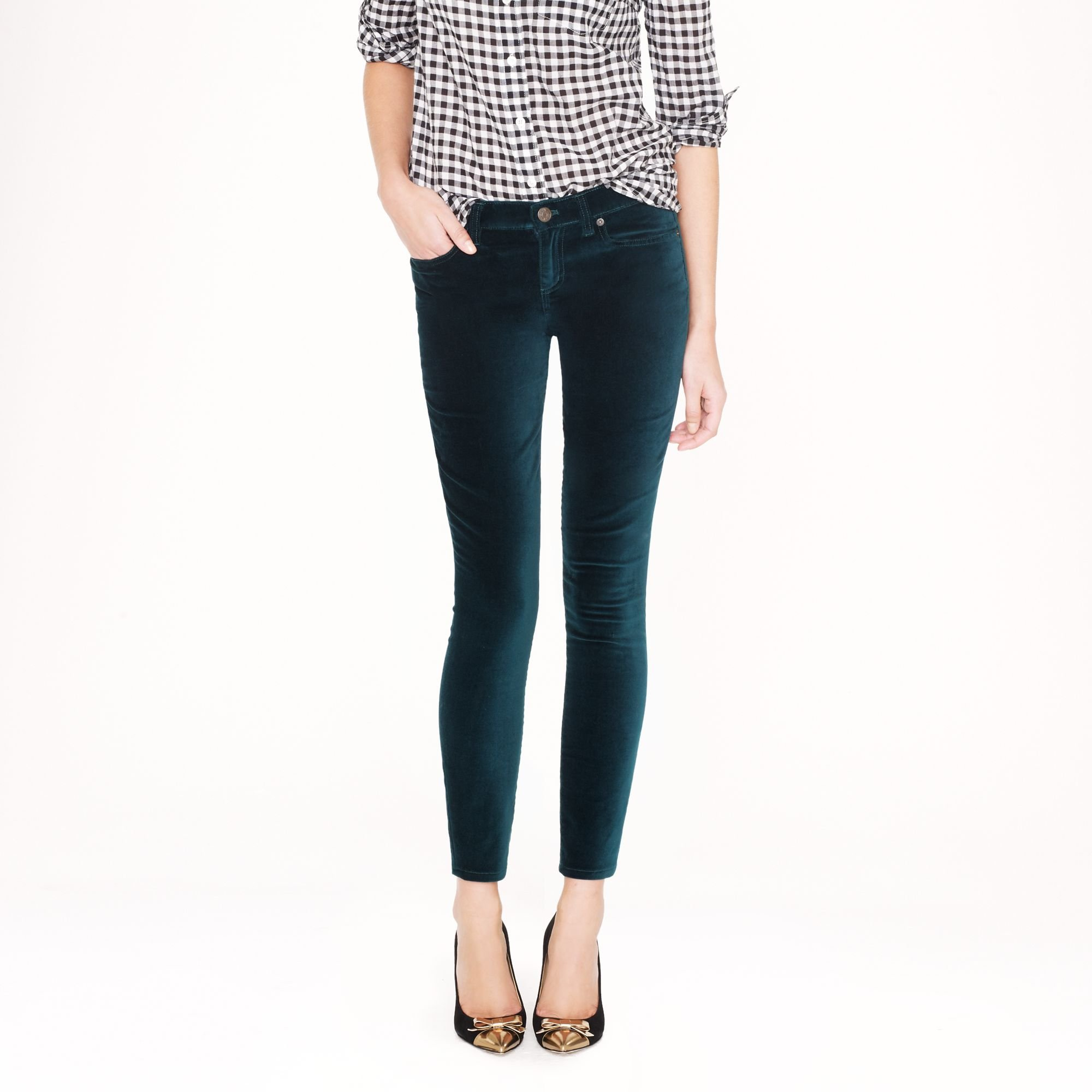 J.Crew Toothpick Jean in Velvet | Fancy Friday - Fancy Pants Holiday Pieces