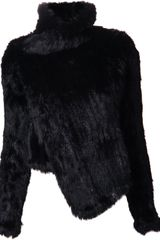 June Rabbit Fur Jacket - Lyst
