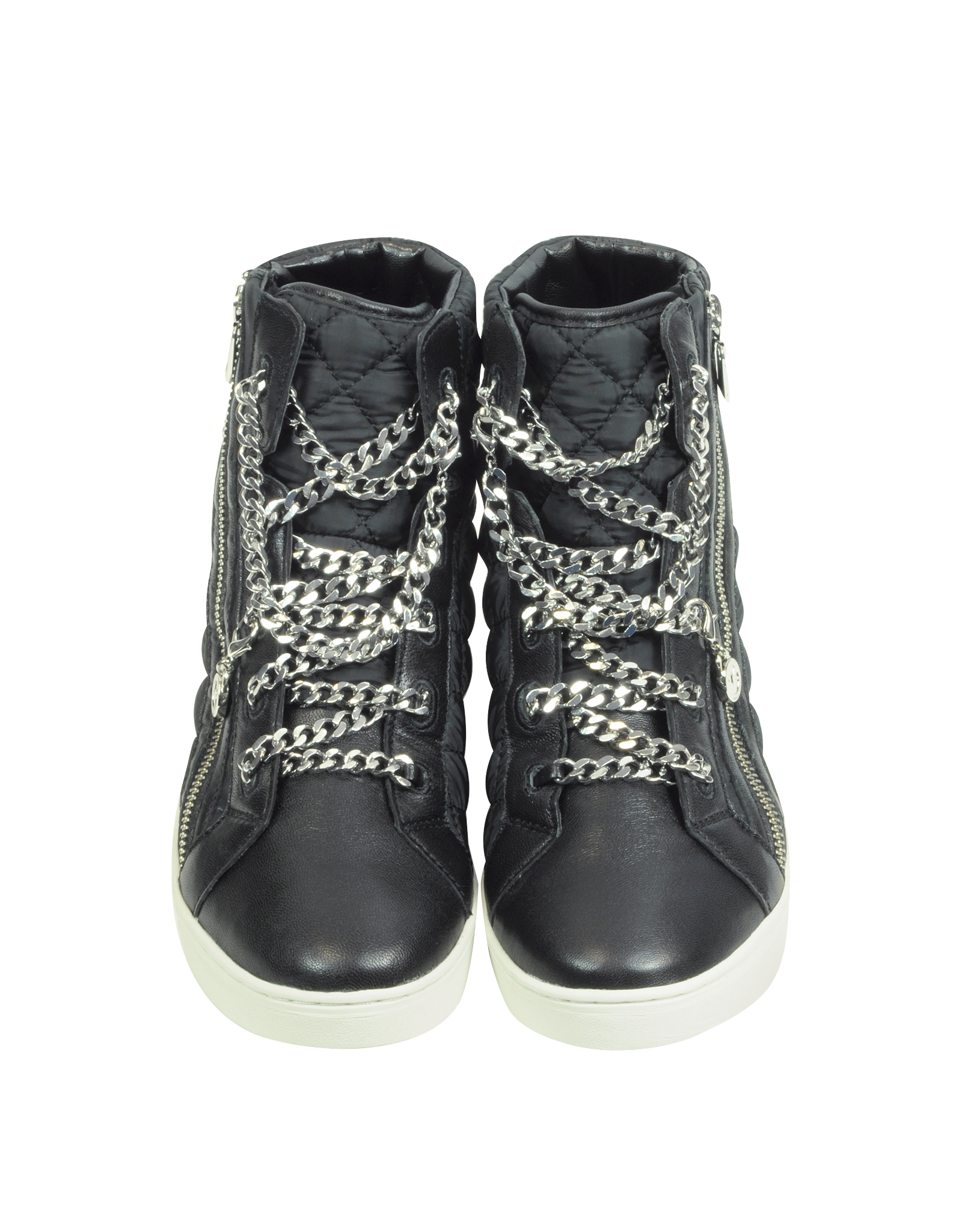 Michael Kors Urban Chain High Top Quilted Nylon Sneaker In