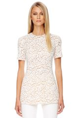 Michael Kors Shortsleeve Lace Top - Lyst
