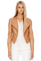 Michael Kors Asymmetric Leather Jacket - Lyst