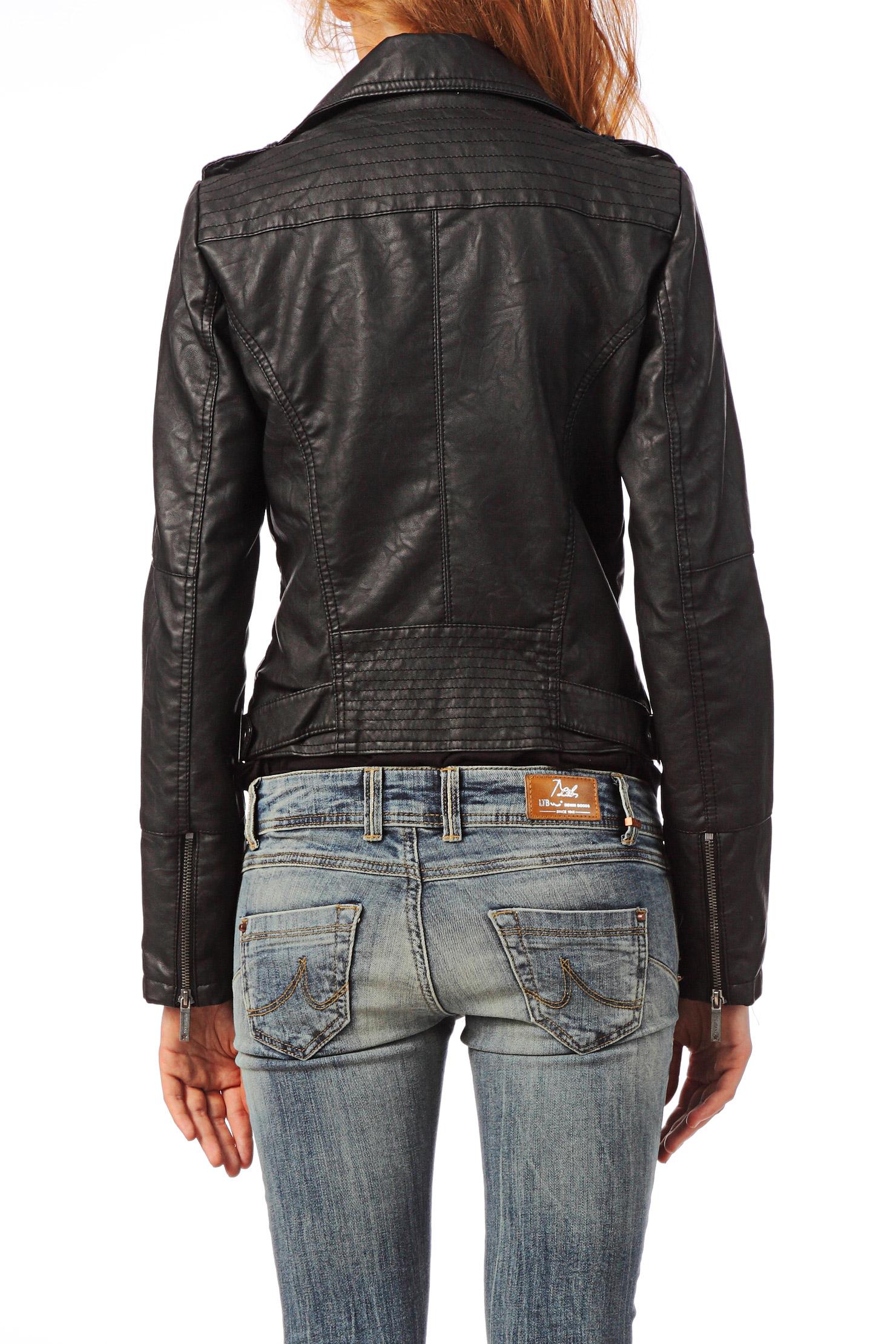 lyst pepe jeans leather jacket pap in black. Black Bedroom Furniture Sets. Home Design Ideas