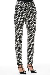 RED Valentino Bowprint Slim Ankle Pants - Lyst