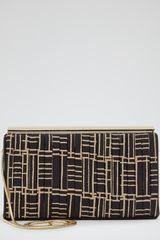 Reiss Larissa Print Printed Pleat Clutch Bag - Lyst