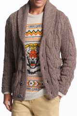 Superdry Daylesford Cable Knit Shawl Cardigan - Lyst
