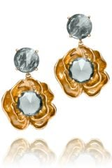 Tory Burch Crystal Rose Dangle Earrings - Lyst