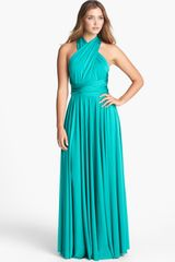 Twobirds Bridesmaid Two birds Convertible Jersey Gown - Lyst