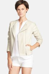 Vince Snake Embossed Leather Jacket - Lyst