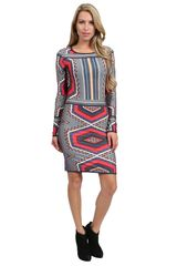 Aaron Ashe Montana Long Sleeve Dress - Lyst