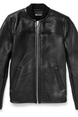 Alexander Wang Distressed Shearling Bomber Jacket - Lyst