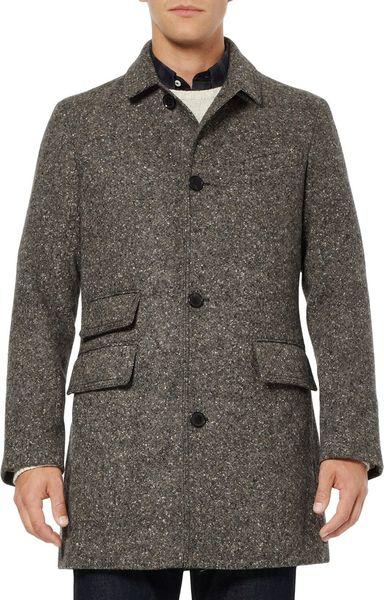 Billy Reid Tweed Astor Car Coat In Gray For Men Lyst