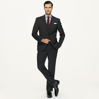 Black Label Threepiece Wool Austin Suit - Lyst