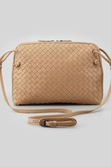 Bottega Veneta Veneta Small Crossbody Bag Walnut - Lyst