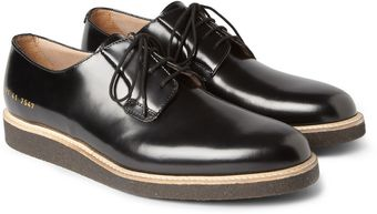 Common Projects Crepesoled Leather Derby Shoes - Lyst