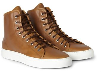 Common Projects Tournament Leather High Top Sneakers - Lyst