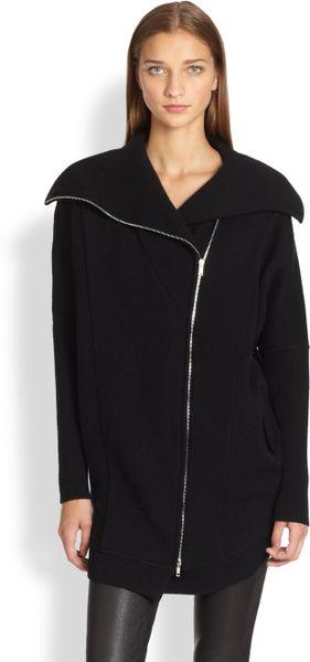donna karan new york cashmere dolmansleeve coat in black. Black Bedroom Furniture Sets. Home Design Ideas