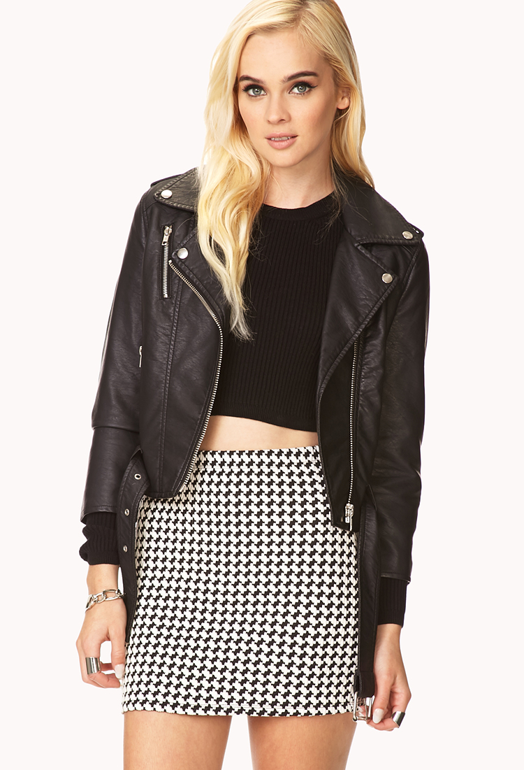 14b0a230647 Forever 21 Underground Faux Leather Jacket in Black - Lyst