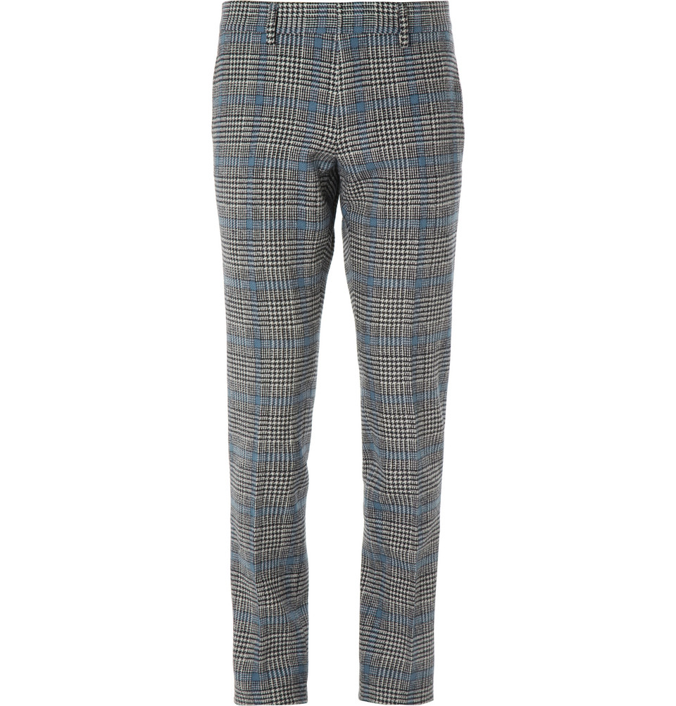 Check wool pant - Grey Gucci IfjUF91