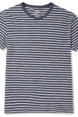 J.Crew Striped Cotton Crew Neck T-shirt - Lyst