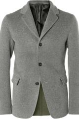 Jil Sander Unstructured Brushedwool Blazer - Lyst