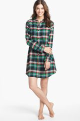 Lauren by Ralph Lauren Flannel Nightshirt - Lyst