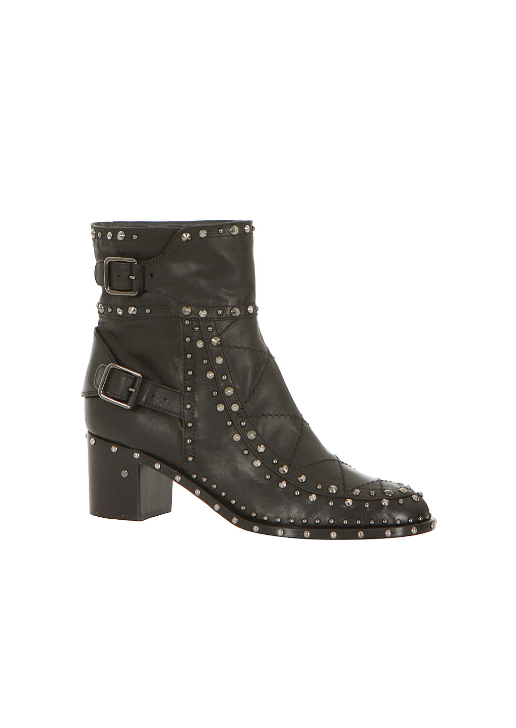 Laurence Dacade Black Leather Studded Badely Booties in ...