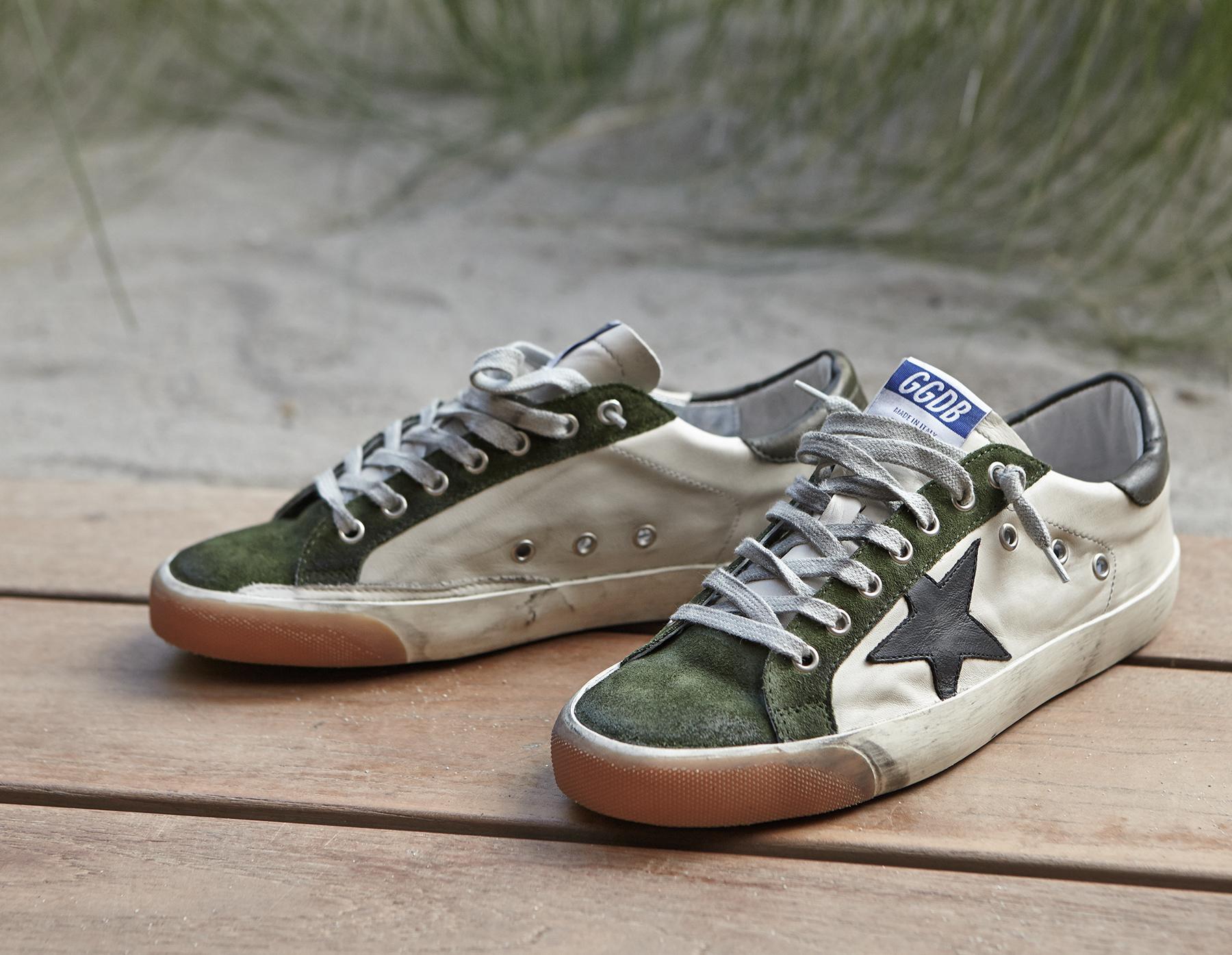 Mens Mens Superstar Leather & Suede Sneakers Golden Goose N5HY6I