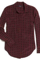 Madewell Silk Bromley Blouse in Tile Dot - Lyst