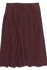Madewell Silk Pleated Skirt in Tile Dot - Lyst