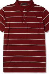 Marc By Marc Jacobs Seattle Striped Cotton jersey Polo Shirt - Lyst